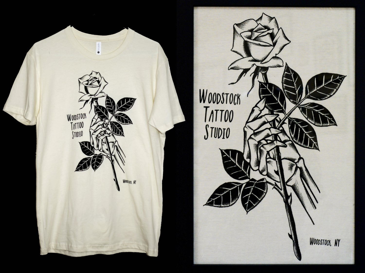 Image of Woodstock Tattoo Studio T-SHIRT