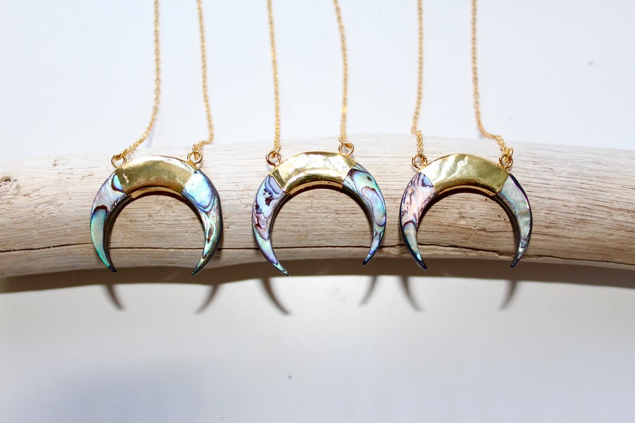 Image of Luna Necklace- Abalone