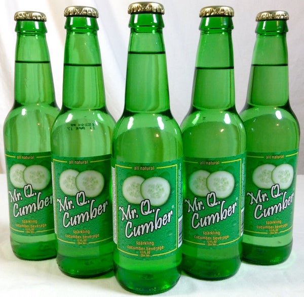 Image of 12oz MR. Q. CUMBER - ALL NATURAL SPARKLING BEVERAGE - 10 Cases (Wholesale Orders Only)