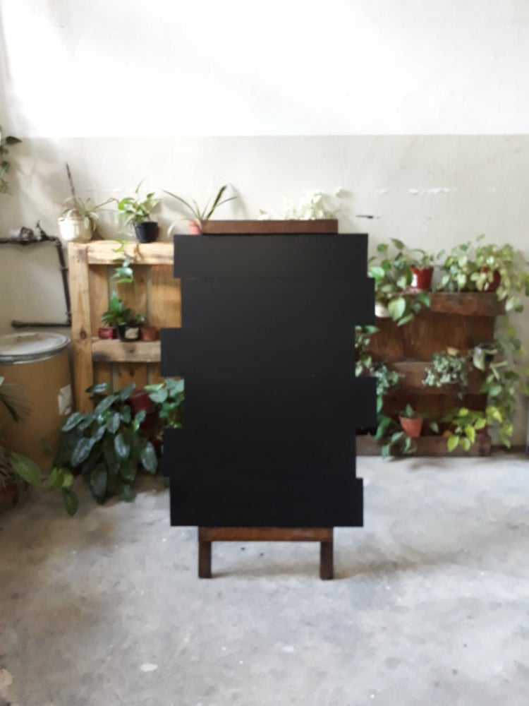 Image of Big Unique One-Sided Standing Chalkboard