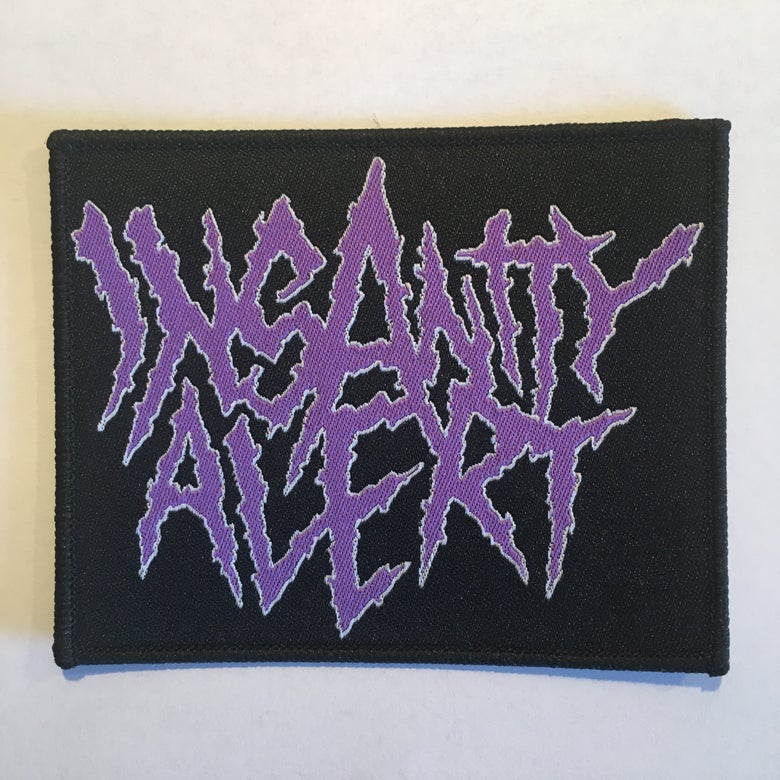 Image of Insanity Alert - embroidered logo Patch