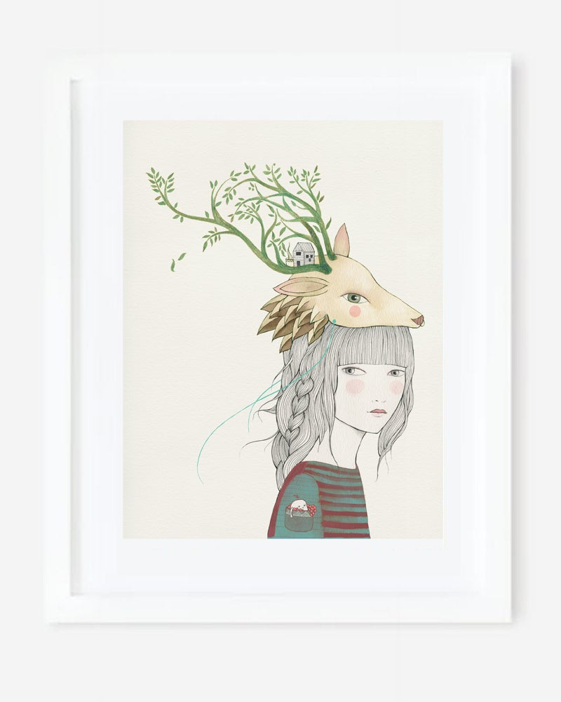 Image of Print Deer Girl