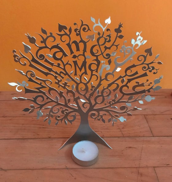 Image of Bespoke metal tree light