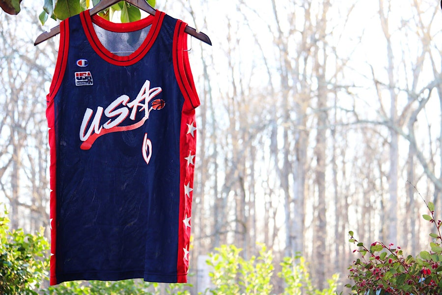 "Image of Rare 90's Vintage Champion USA Olympics ""PENNY HARDAWAY"" Basketball Jersey Sz: Small"
