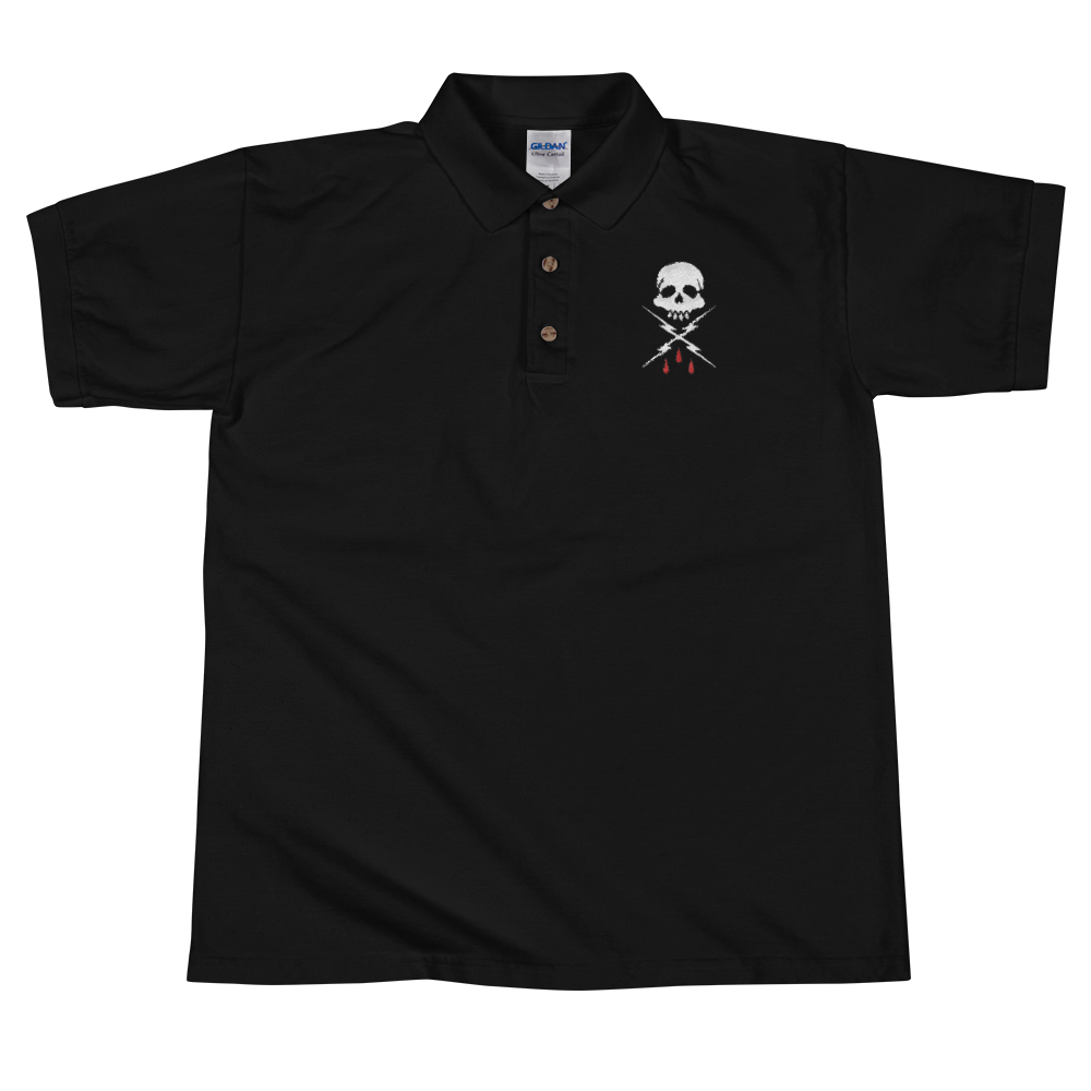 Image of Embroidered Deathwish Polo Tee
