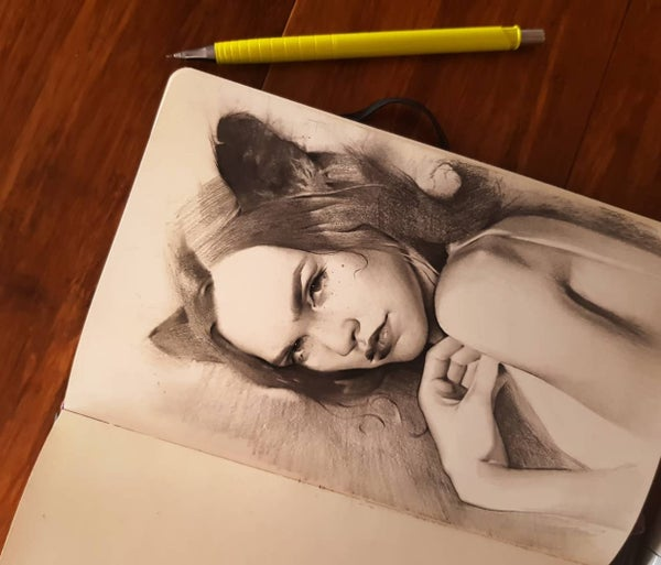 Image of Original pencil - Dasha
