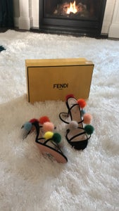 Image of BRAND NEW: Fendi Pom Pom Heelss
