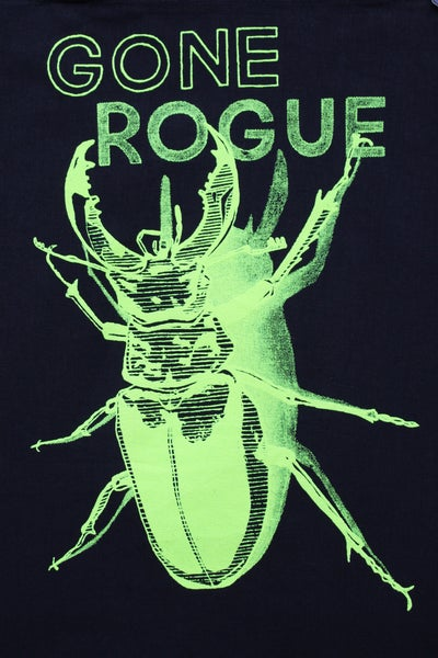 Image of TOTE BAG, black & neon yellow - Gone Rogue