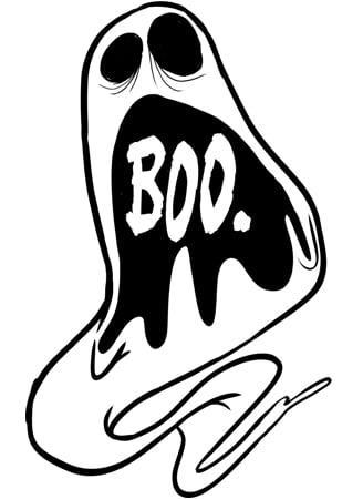Image of Ghost Screams Enamel Pin
