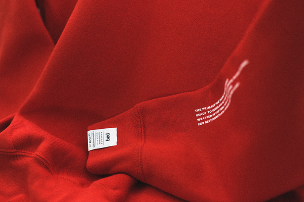 Image of the primary paq: double red sweatshirt