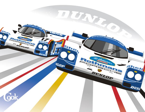 Image of Porsche 962's at Le Mans