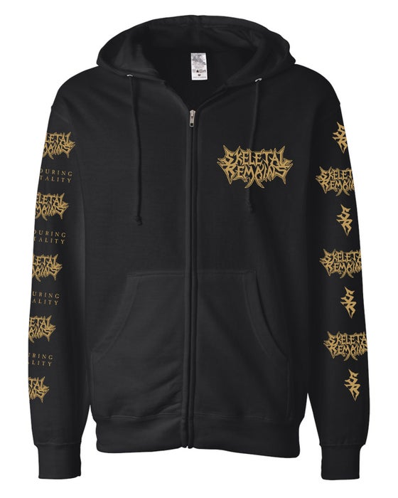 Image of Devouring Mortality Zip Up Hoodie