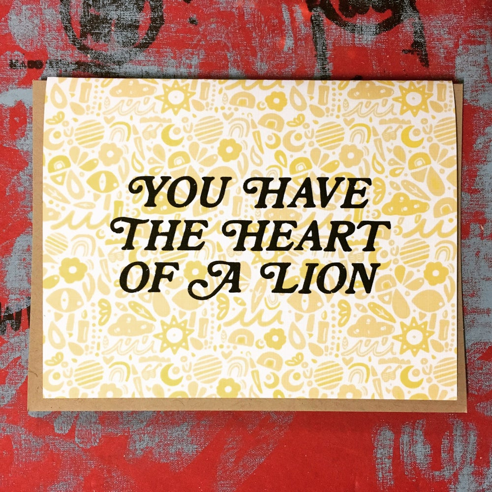 Image of You Have the Heart of a Lion- Single Card