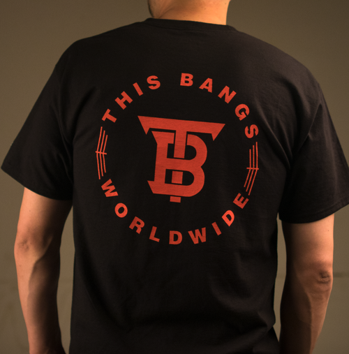 Image of This Bangs WorldWide Tee (Black & Red)
