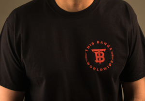 Image of This Bangs WorldWide Tee (Black & Red)