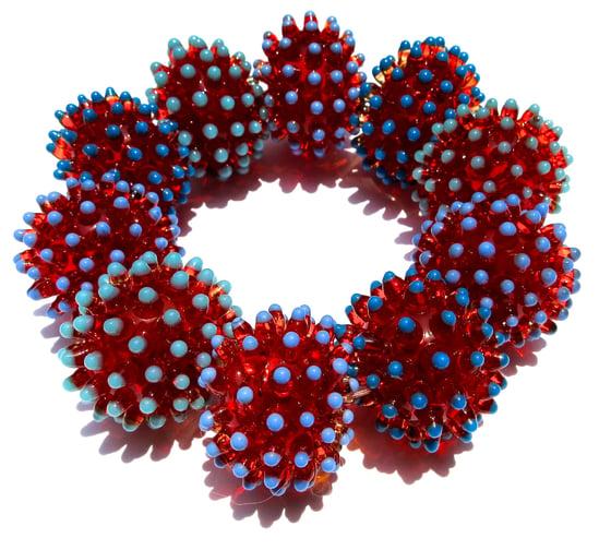 Image of Hollow Cloud Bracelet - Red, Blue tips