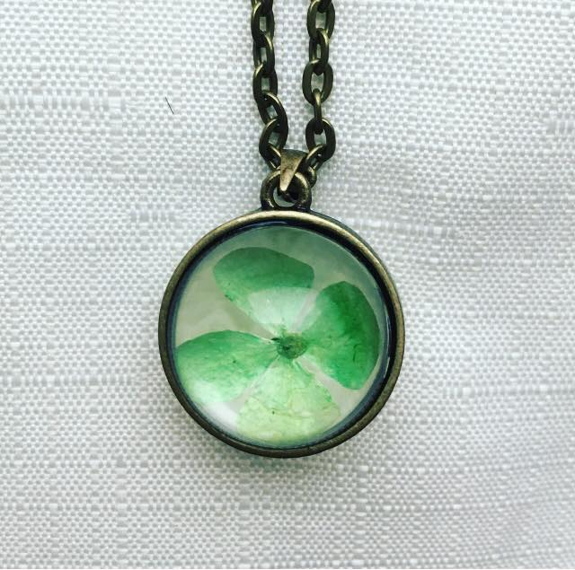 Image of 4 leaf clover necklace