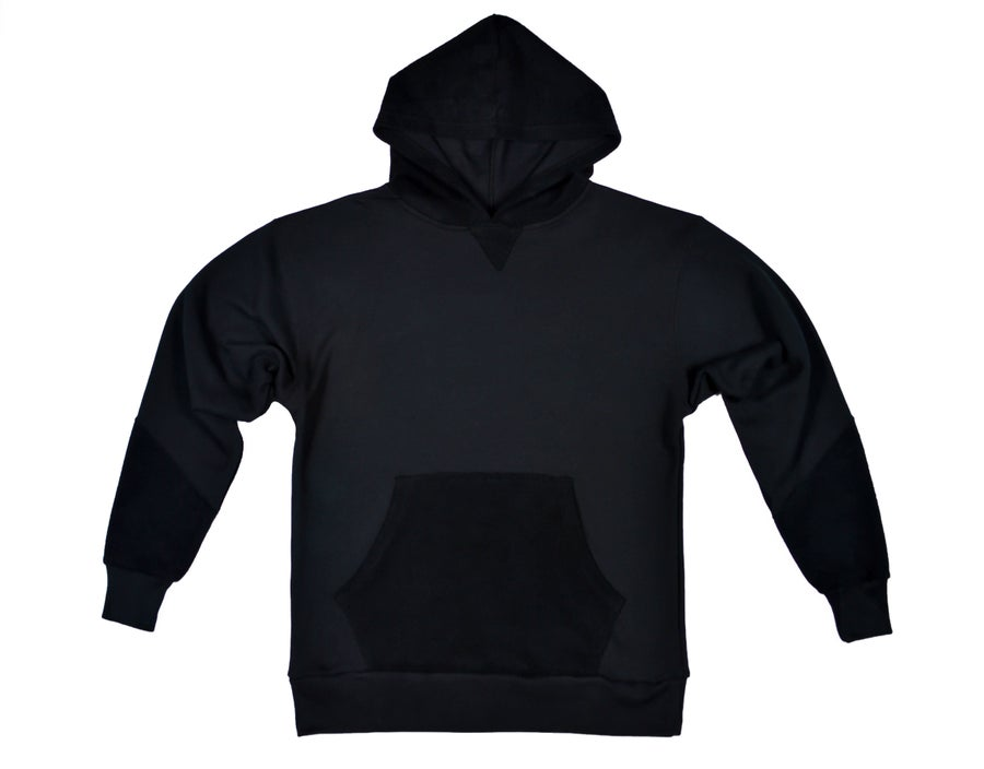 Image of Reverse Terry Hoodie - Black