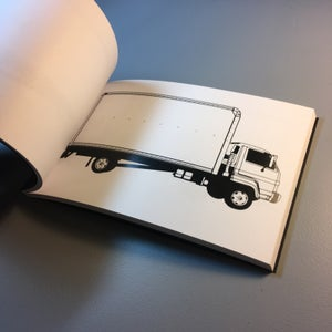 Image of Blank Box Truck Sketch Book!