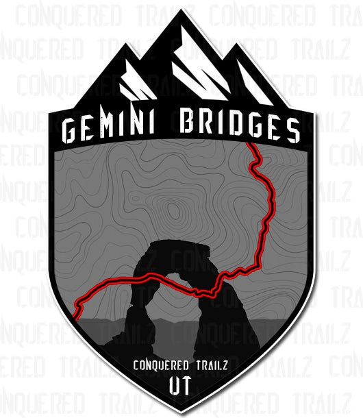 "Image of ""Gemini Bridges"" Trail Badge"