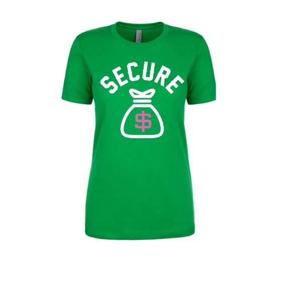 "Image of ""Secure the Bag"" Women's tee"