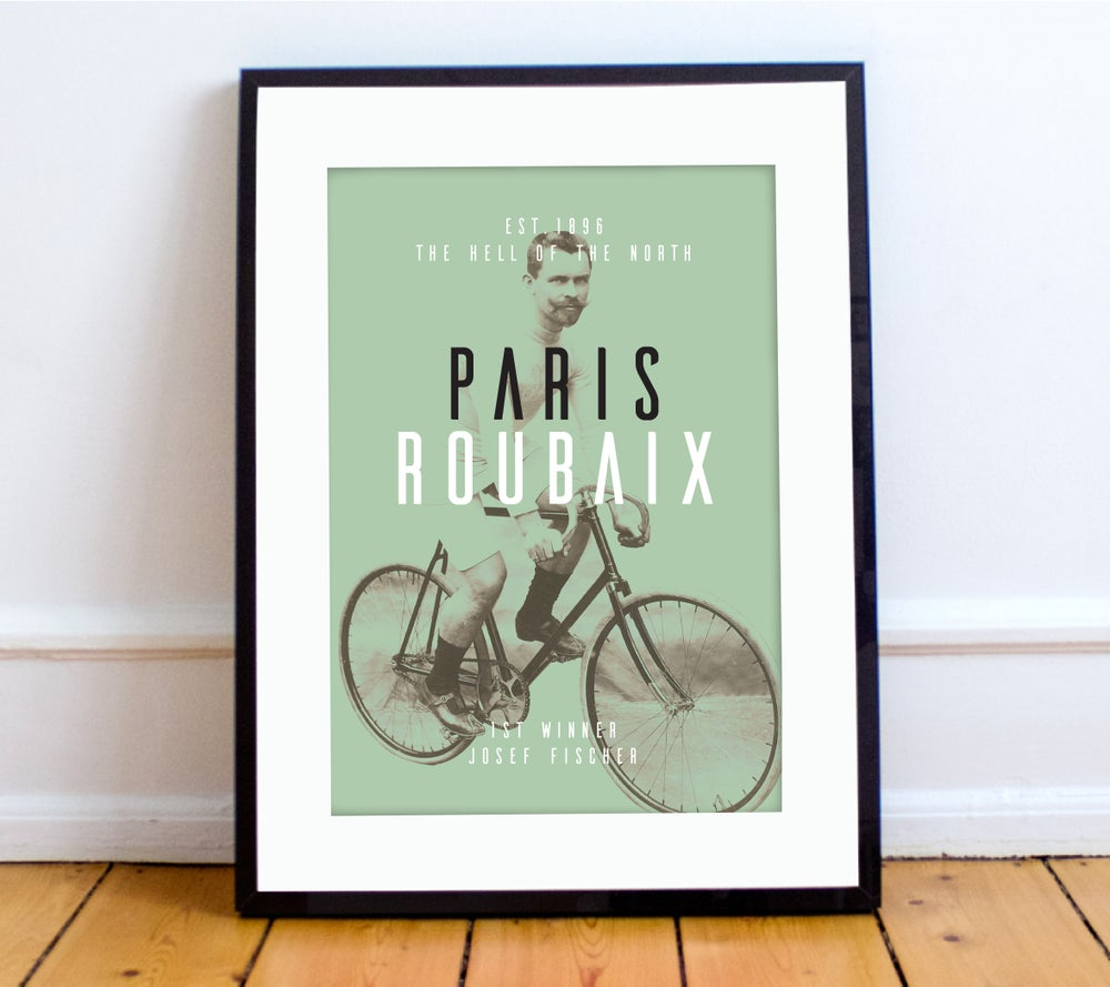 Image of Josef at Paris-Roubaix print - A4 & A3