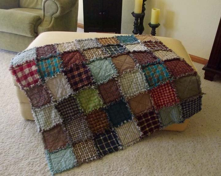 Image of Crib Size Patchwork Quilt