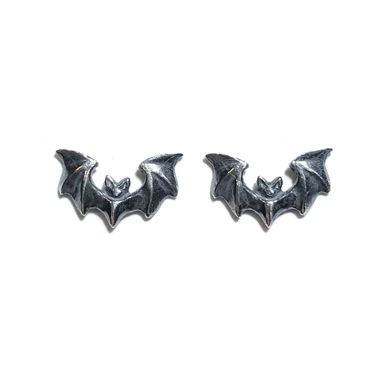 Image of Mini Vampira earrings in oxidized sterling silver