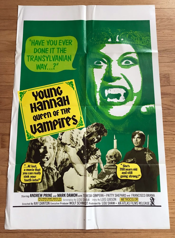 Image of 1973 HANNAH QUEEN OF THE VAMPIRES aka CRYPT OF THE LIVING DEAD Original U.S. One Sheet Movie Poster