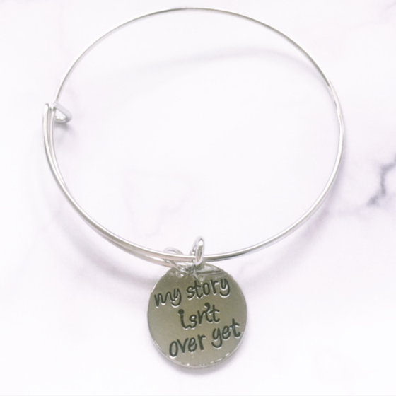 Image of MY STORY ISN'T OVER YET BANGLE BRACELET