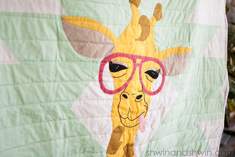 Image of Hipster Giraffe Quilt Applique