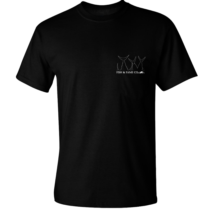 Image of Hook & Bag Em' Tee (black)