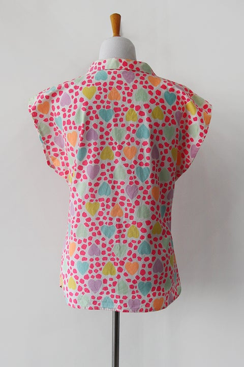 Image of SOLD Candy Hearts Neon Blouse