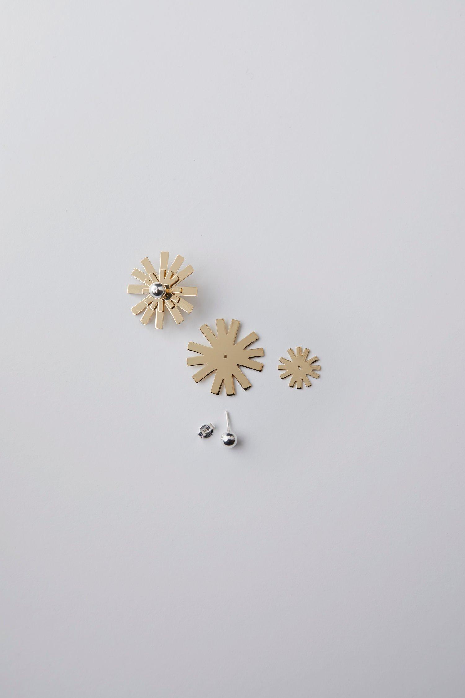 Image of Créoles Fleurs modulables