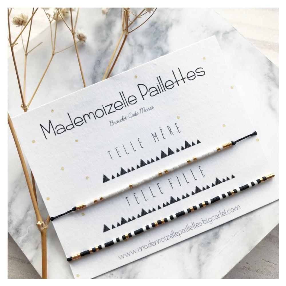 Image of Duo bracelet code morse •MÈRE FILLE•