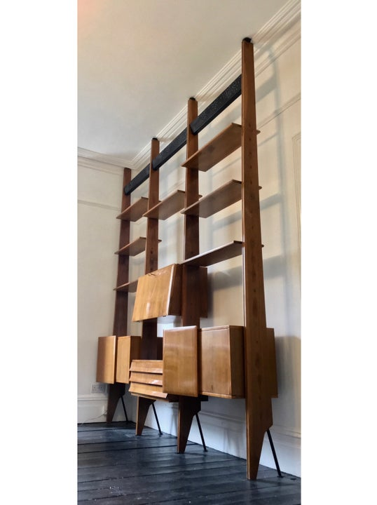 Image of Shelving System or Room Divider, Italy 1950s