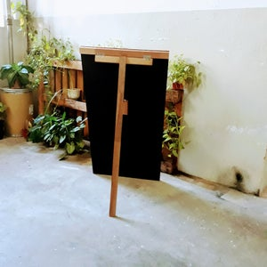 Single Sided Standing Chalkboard with Broad and Narrow Border