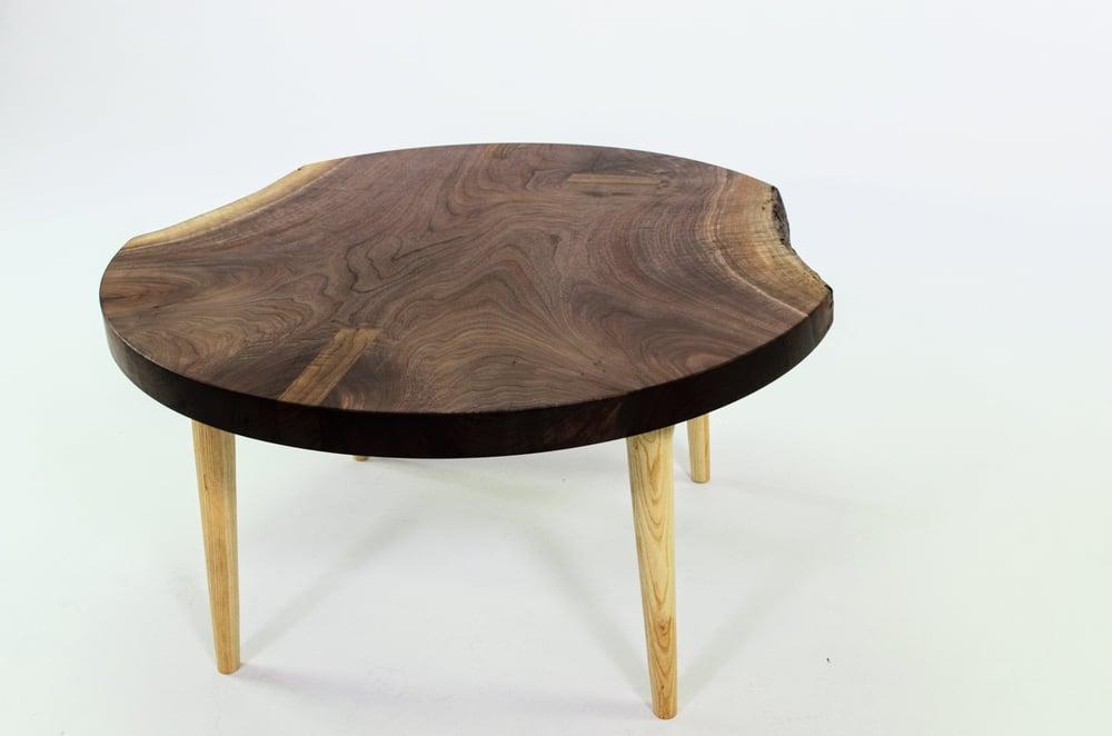 Live Edge Round Walnut Coffee Table