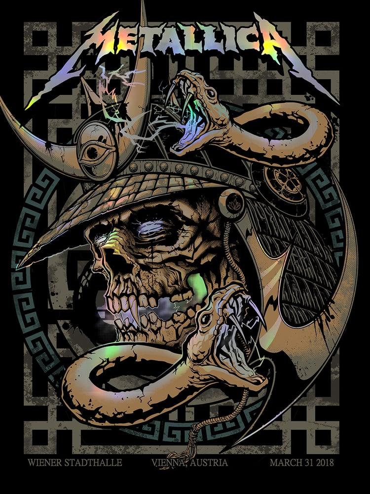 Image of Metallica Vienna Gig Poster 2018 SN APs