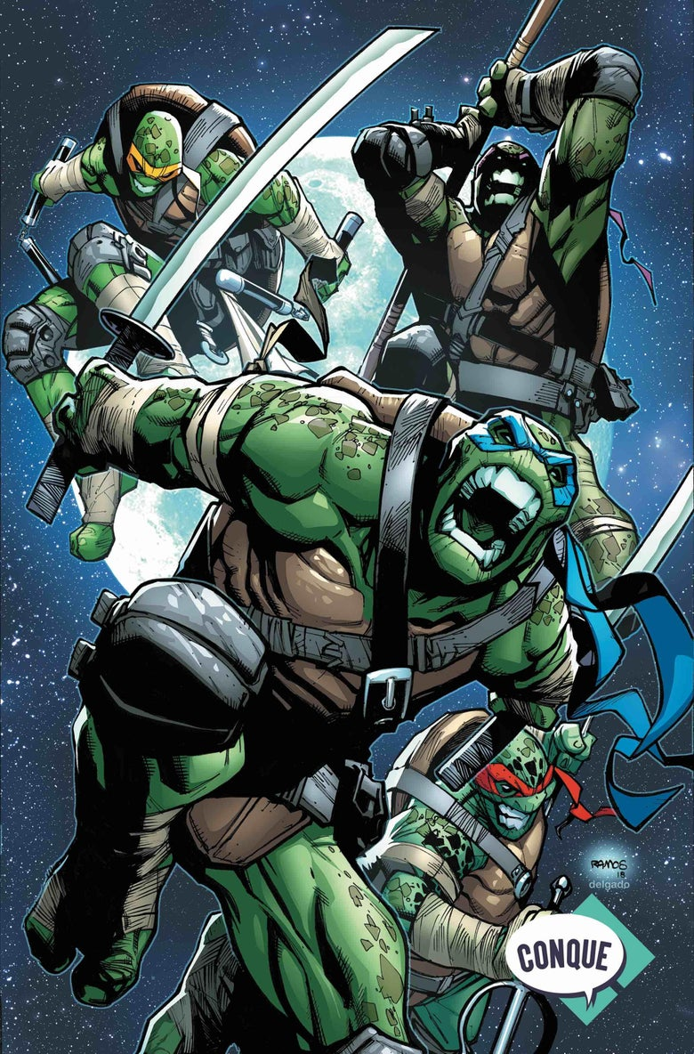 Image of Teenage Mutant Ninja Turtles #81 Humberto Ramos Conque Mexico Exclusive Variant (Pre-Order)