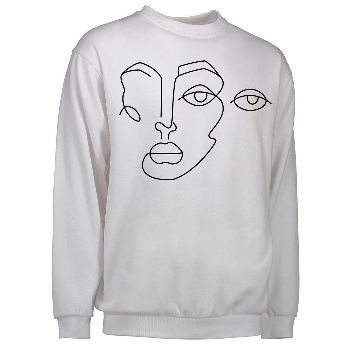 Image of TWOFACED - WHITE SWEAT - BLACK PRINT