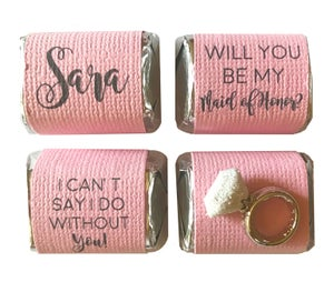 Image of Bridesmaid and Maid of Honor 4 Pack Chocolate Nuggets