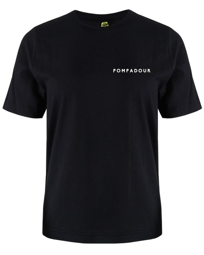 Image of Pompadour Embroidered T-Shirt (Black)
