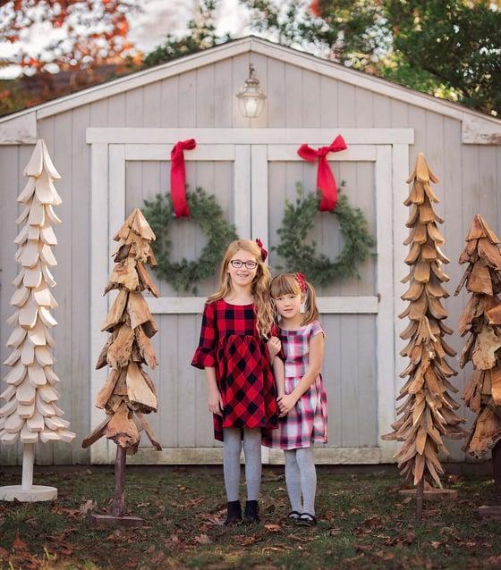 Image of Wood Tree Holiday Mini