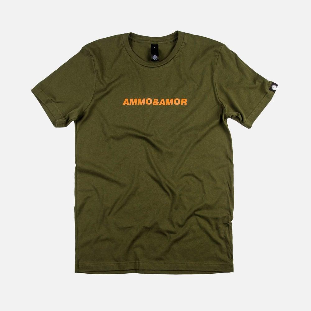 Image of Script T-shirt Olive