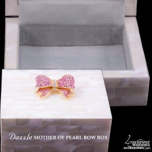 Image of Dazzle Mother of Pearl Bow Jewelry Box