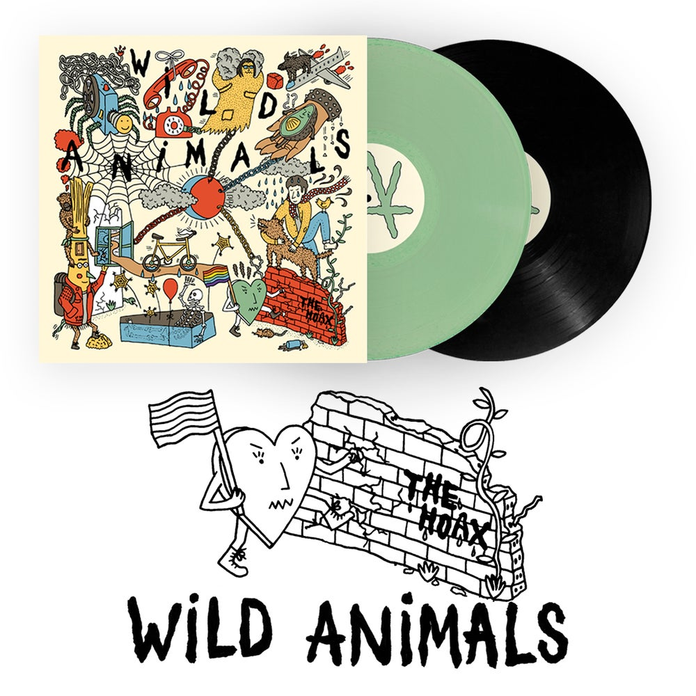 "Image of LADV104 - WILD ANIMALS ""The Hoax"" LP"