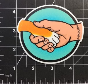 Image of I Will Guide Thy Paw Sticker