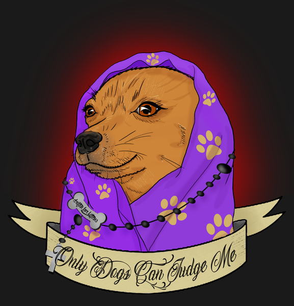 Image of Only Dogs Can Judge Me Sticker