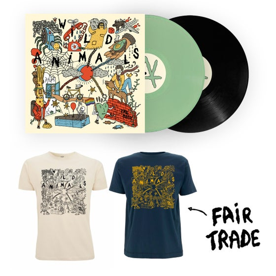 "Image of WILD ANIMALS ""The Hoax"" vinyl + fair trade tshirt PACK"